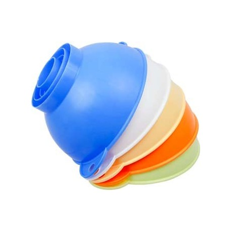 Plastic funnel for jars and demijohns