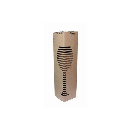 Cardboard box for wine bottles (0,75l)