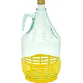 Klaasist pudel, millel keeratav kork 5L, ?29