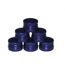 Butelių užsukami dangteliai Ø28mm (100 vnt.) Mėlyni