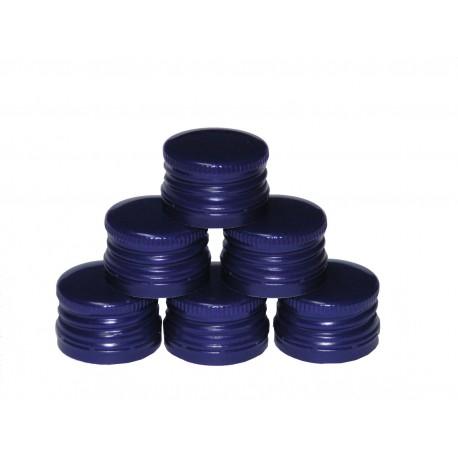 Skrūvējamie vāciņi pudelēm Ø28mm (100 gab.) zilā krāsā
