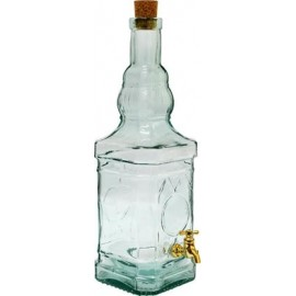 Decorative bottle with tap 3,4L