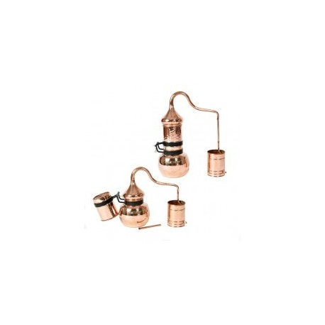 Copper Rotating Column Alembic Still 20L with built-in thermometer