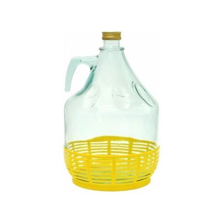 Стеклянная бутылка 5л с крышкой Ø29 мм для вина