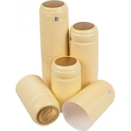 Caps for wine bottles (cream color, with a tear-off top) 100pcs.