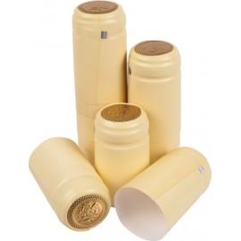 Шапочки для винных бутылок (кремового цвета, с отрывной верхней частью) 100шт.