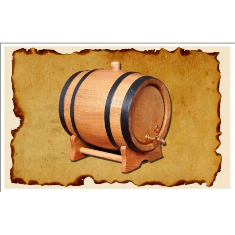 Oak barrel (5L) with crane