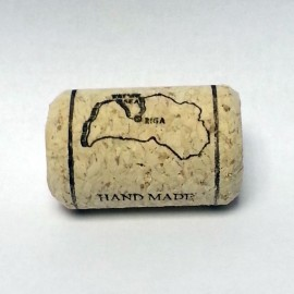 Agglomerated wine corks Ø24x38mm, with print and wax (100pcs.)
