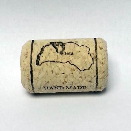 Agglomerated wine corks ?38x24mm, with print and wax (20pcs.)