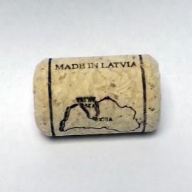 Aglomerēti vīna korķi Ø24/38mm, ar apdruku un vasku (20gb.)