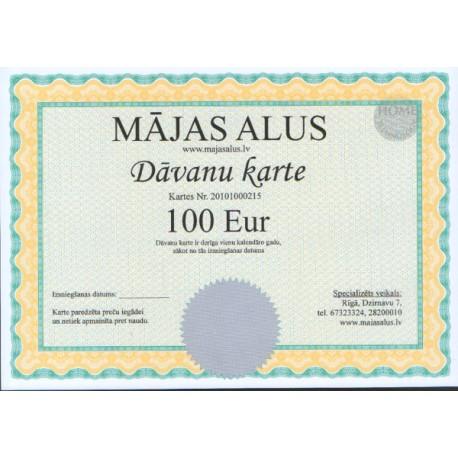 D?vanu karte 100 EUR v?rt?b?