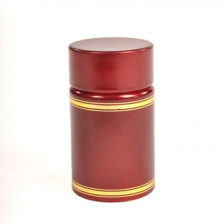 Plastikkorb mit Spender und Deckel (rot)