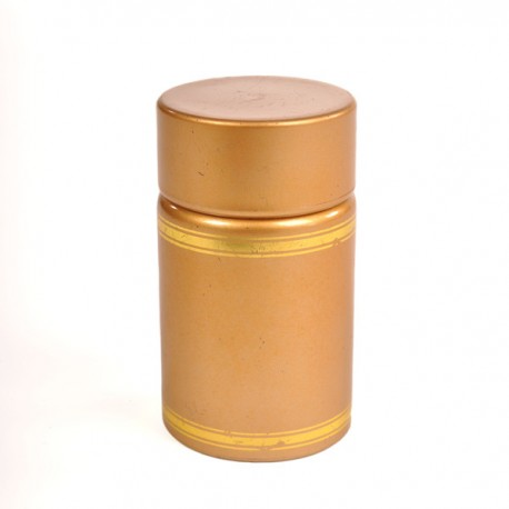 Plastic lid with batcher and cap (gold)
