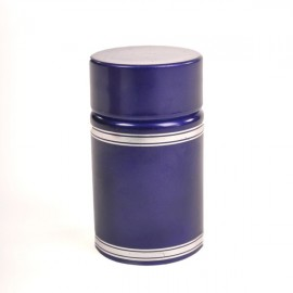 Plastic lid with batcher and cap (blue)