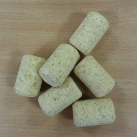 Agglomerated wine corks ?38/23,5mm, with a drawing (100 pcs.)