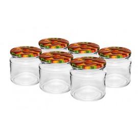 212 ml jar with screw cap (6 pcs.)