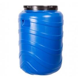 Пластиковая бочка с ручками и винтовой крышкой на 130 литров