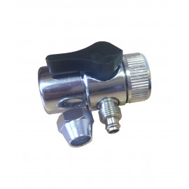 The metal adapter (diverter) for the valve and hose 6mm