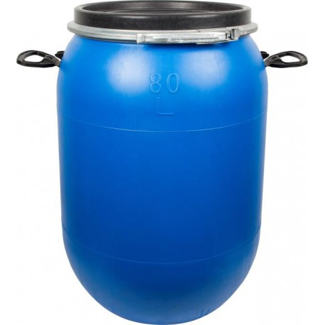 Blue cabbage/cucumber barrel 80 L with hoop