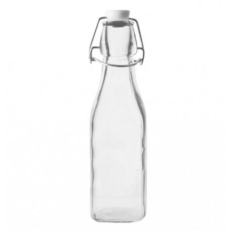 250 ml kvadr?taina stikla pudele ar stieples kor?i