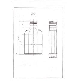 Stikla blašķe pudele 100ml (20gb.) Ø28mm
