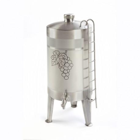 Barrel, mis on valmistatud roostevabast terasest, 5L