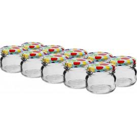 Glas 30 ml mit Faden und Kappe (10er Packung)