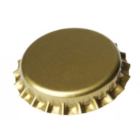 Крон пробки для пивных бутылок Ø 26мм золото - 100 штук