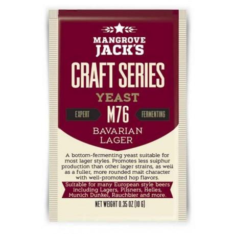 Dried brewing yeast Mangrove Jack`s Craft Series Bavarian Lager M76 10g