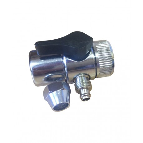 The metal adapter (diverter) for the valve and hose 8mm