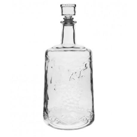 Karafe no bieza stikla ar aizb?zni 3L