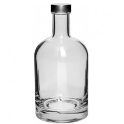 Glass bottle with cap 500ml