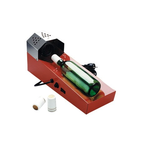 Heating device for thermocaps for wine bottles