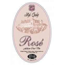 Самоклеящиеся этикетки для вина Rose 25шт.