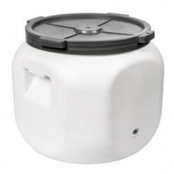 Ruudu plastikust barrel s?l??anai 40L koos auk puuduta