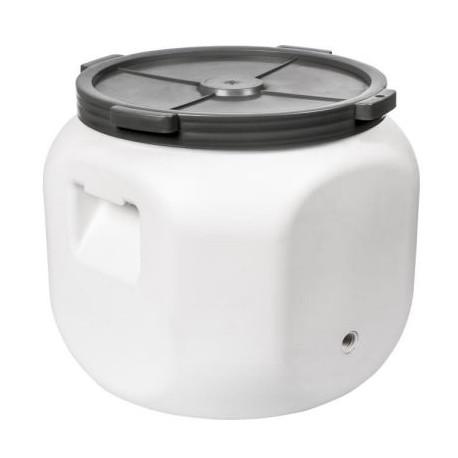 Квадратная пластиковая бочка для закваски 40л с отверстием для крана