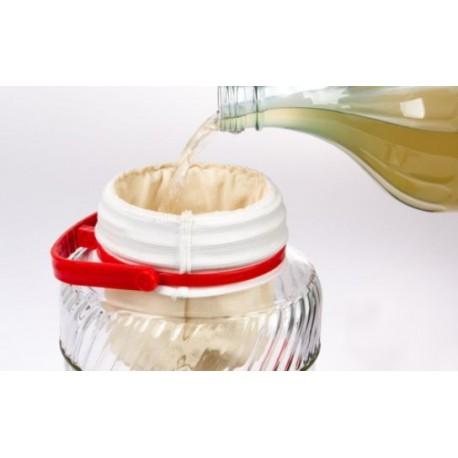 Filtering 1L bag for jars