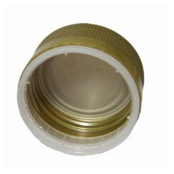 Plastic lid ?35 x h18mm for bottles with thread (gold)