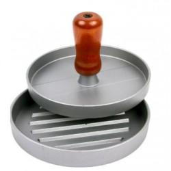 Hamburger Schneidpresse aus Aluminium, 12 cm Durchmesser.