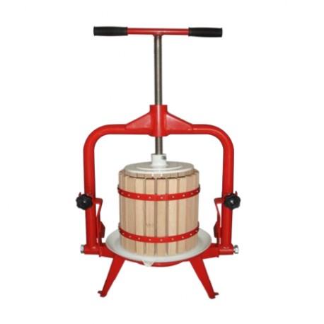 Рамный деревянный пресс для фруктов 18л (красный)