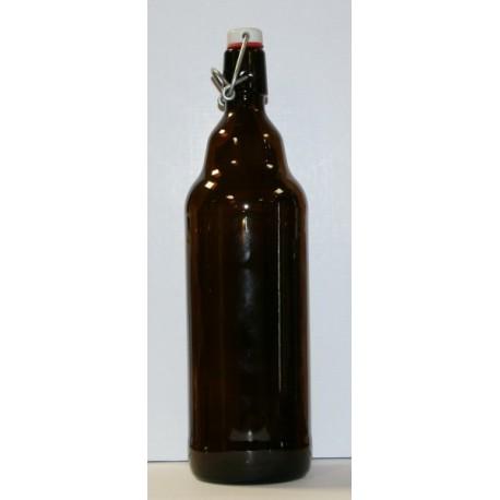Klaasist pudel, millel on keraamiline kork 1L