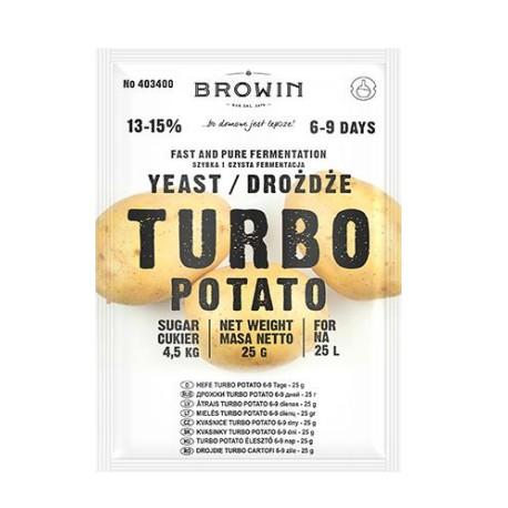Raugs TURBO Potato uz 25L, 13-15%, 25g