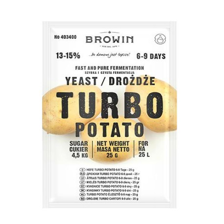 Turbo Potato Yeast per 25 L - 25 g