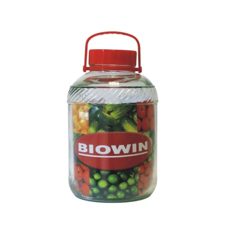 Jar with a plastic lid and handle 15L