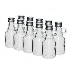Стеклянные бутылочки 40 мл с винтовой крышкой 10шт.