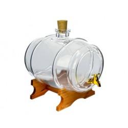 Decorative glass barrel 5L
