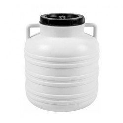 Plastic barrel with a screw-on lid and handles, 20L