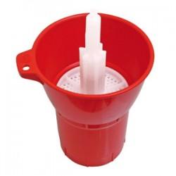Rinser for disinfecting bottles