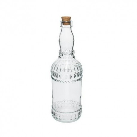 Glass bottle 720ml with natural cork