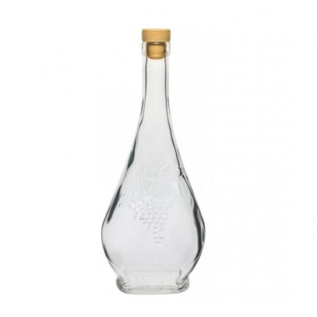 Glass bottle 500 ml Luigi with cork